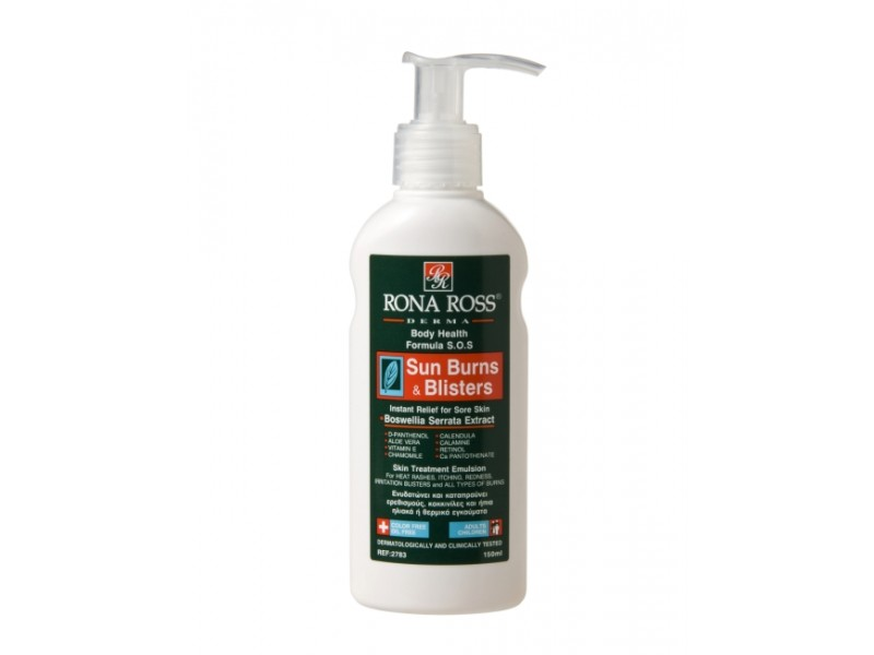 Rona Ross Sun Burns & Blisters  sensitive skin & aftersun