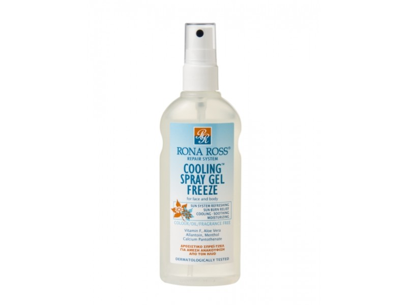 Rona Ross Cooling Spray Gel Freeze  sensitive skin & aftersun