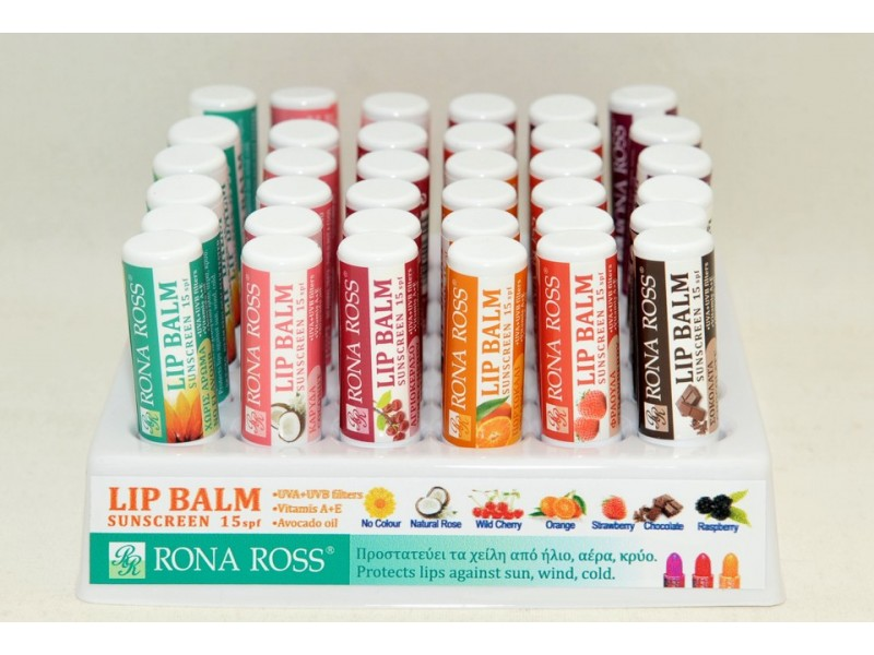 Rona Ross Lip Balm display