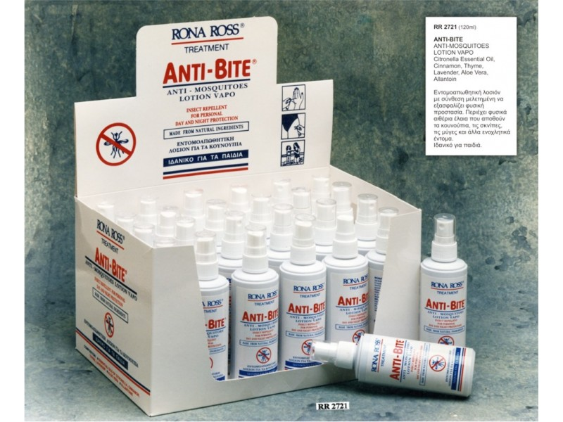 Rona Ross Anti Bite Natural Spray 120 ml - Display